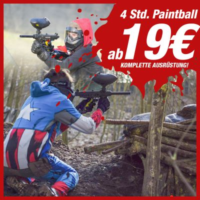 Nur Ostern: 4 Std Paintball ab 19€